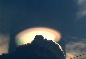 Sorprendente efecto sobre el cielo, cerca de la ciudad de México, en el 2008