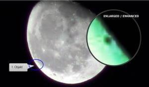 10 objetos desconocidos saliendo de la Luna