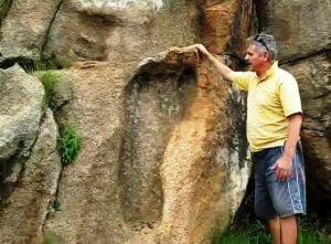Huella de pie gigante de 200 millones de años – Mpaluzi Sudáfrica