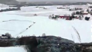 Decenas de evacuados por un deslizamiento de tierras en Trondheim, Noruega – 01 de enero 2012