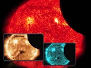 NASA SDO – eclipse solar parcial visto desde el espacio – 21 de febrero 2012