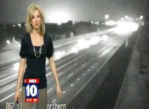 Misteriosos destellos de luz en el tráfico en Fox 10 Phoenix – 8 de marzo de 2012