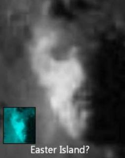 eastern island Tycho Crater Face of Easter Island Statue on the Moon?