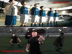 La televisión china promociona la copa de la UEFA 2012, abanderando la destrucción de Londres (borrados)