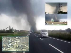 Raro y poco común Tornado Golpea la ciudad de Tsukuba, cerca de Tokio, Japón – 06 de mayo 2012