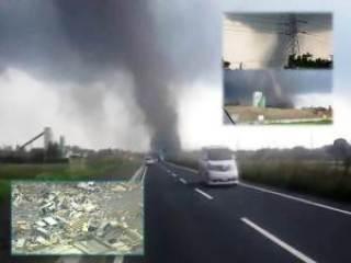 tornado japan - Rare and Deadly Tornado Hits Tsukuba City, near Tokyo, Japan May 6, 2012