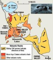 LongValleyMap Super Volcanic Eruptions with the Potential to End Civilizations