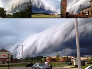 Impresionante nube en estantería sobre Richmond, VA – 15 de julio 2012