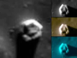 Fusión de impacto con forma de dedos y extraño hexágono en la Luna