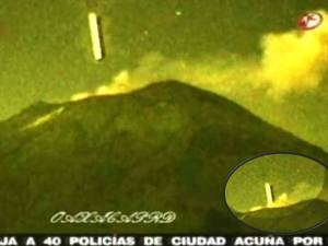 Objeto con forma de cigarro vuela al volcán Popocatépetl en México – Octubre de 2012