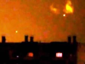 TV informa de OVNIs brillantes sobre Churilov, Rusia 2012