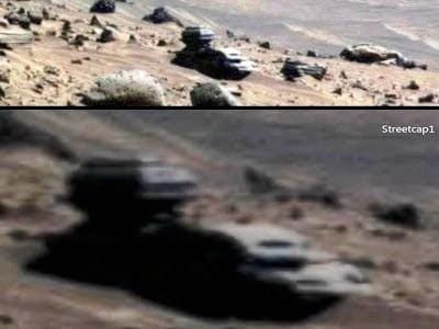 Objeto inusual con forma de 'Vehículo' en Marte grabado por la sonda Spirit – 2013