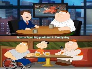 ¿Bombas de Boston predichas en Padre de Familia – programación predictiva?
