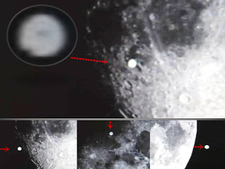 OVNI gigante con forma de disco filmado sobre la Luna – 2013