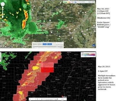 Metrage en raw del tornado F4 de Oklahoma – ¿Anillos HAARP pulsos de radar? – 22 de mayo 2013