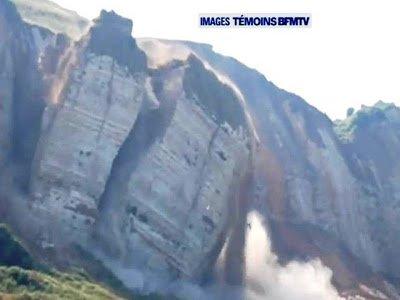 Espectacular caída de un acantilado en Saint-Jouin-Bruneval, Francia – 22 de julio de 2013