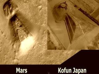 Una gran estructura geométrica en Marte, la misma estructura que en Kofun de Japón – Julio 2013