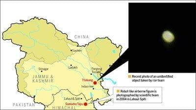 Misteriosos avistamientos de OVNIs en la zona de Ladakh, una vez más – 19 de agosto 2013