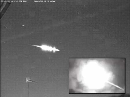 Agáchate y ponte a cubierto, enorme bola de fuego sobre Japón el 11 de enero 2014   Rusia Meteoro Meteorito Japón Chelyabinsk CCTV