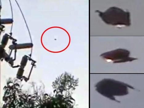 OVNI filmado en México poco antes del terremoto de 7,2 grados del 18 de abril 2014