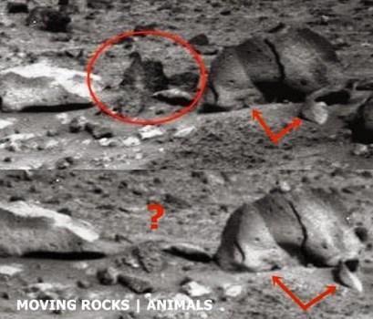 El misterio de las rocas que se desplazan en Marte fotografiadas por la Spirit en 2009