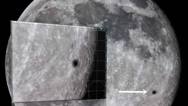 OVNI con halo magnético pasa delante de la Súper Luna