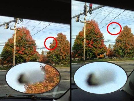 Extraño OVNI negro grabado sobre Pikesville, Maryland