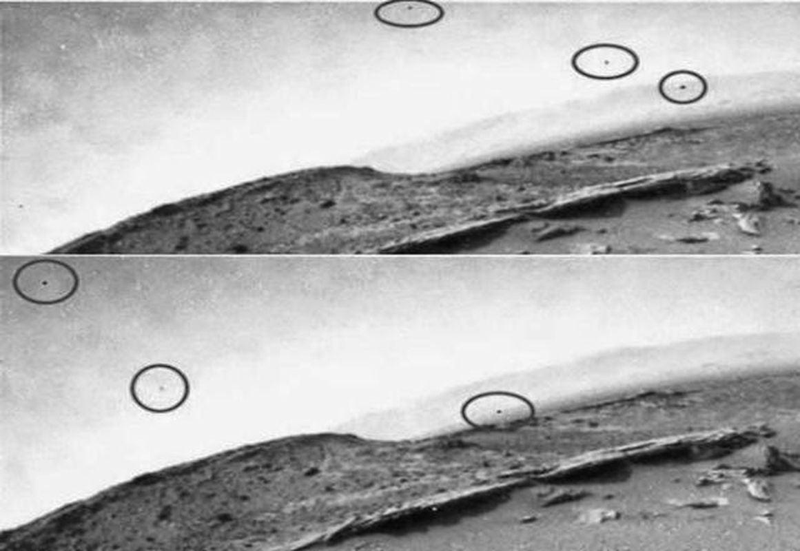 Curiosity graba tres objetos volando por el cielo marciano