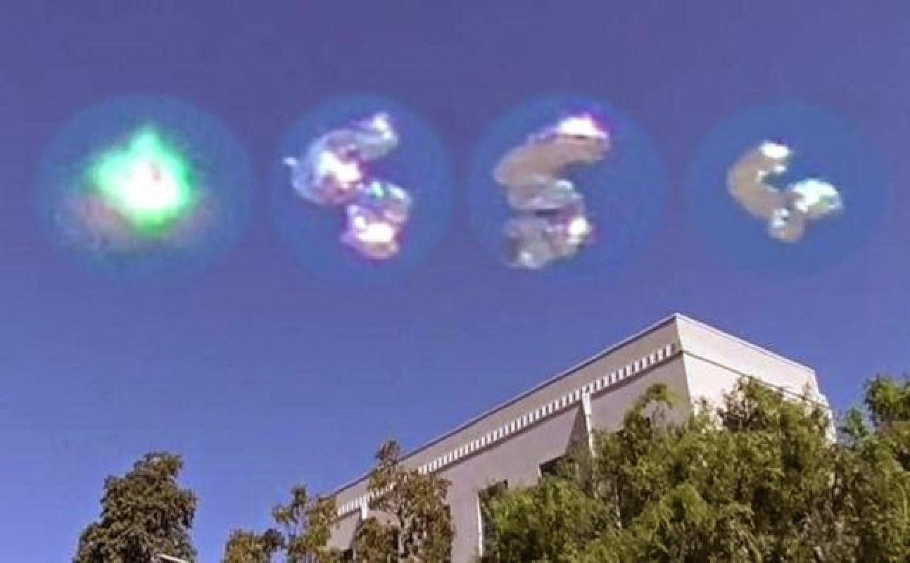 OVNI transformándose sobre Los Ángeles