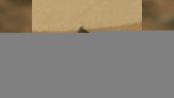 Artefacto con forma de pirámide en Marte