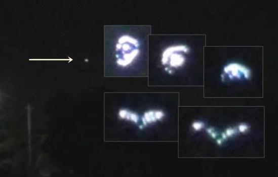 OVNI triangular con forma cambiante sobre Tijuana