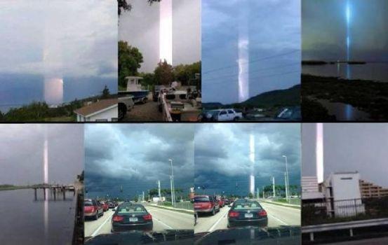 Extraños haces de luz se ven en todo el mundo