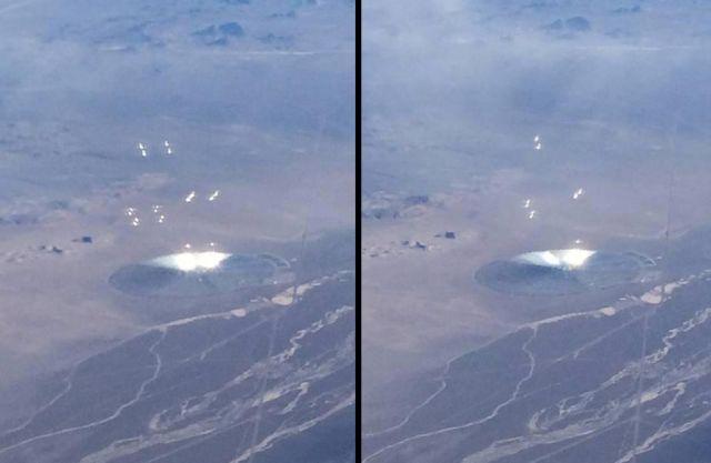 Disco inusual en el desierto de Nevada