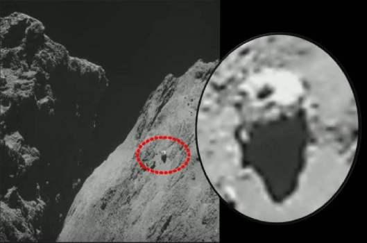 ¿Imagen de Rosetta revela OVNI en cometa 67P?