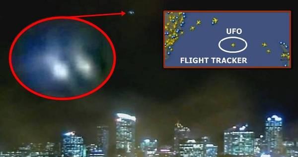 OVNI grabado por webcam y rastreo de vuelos
