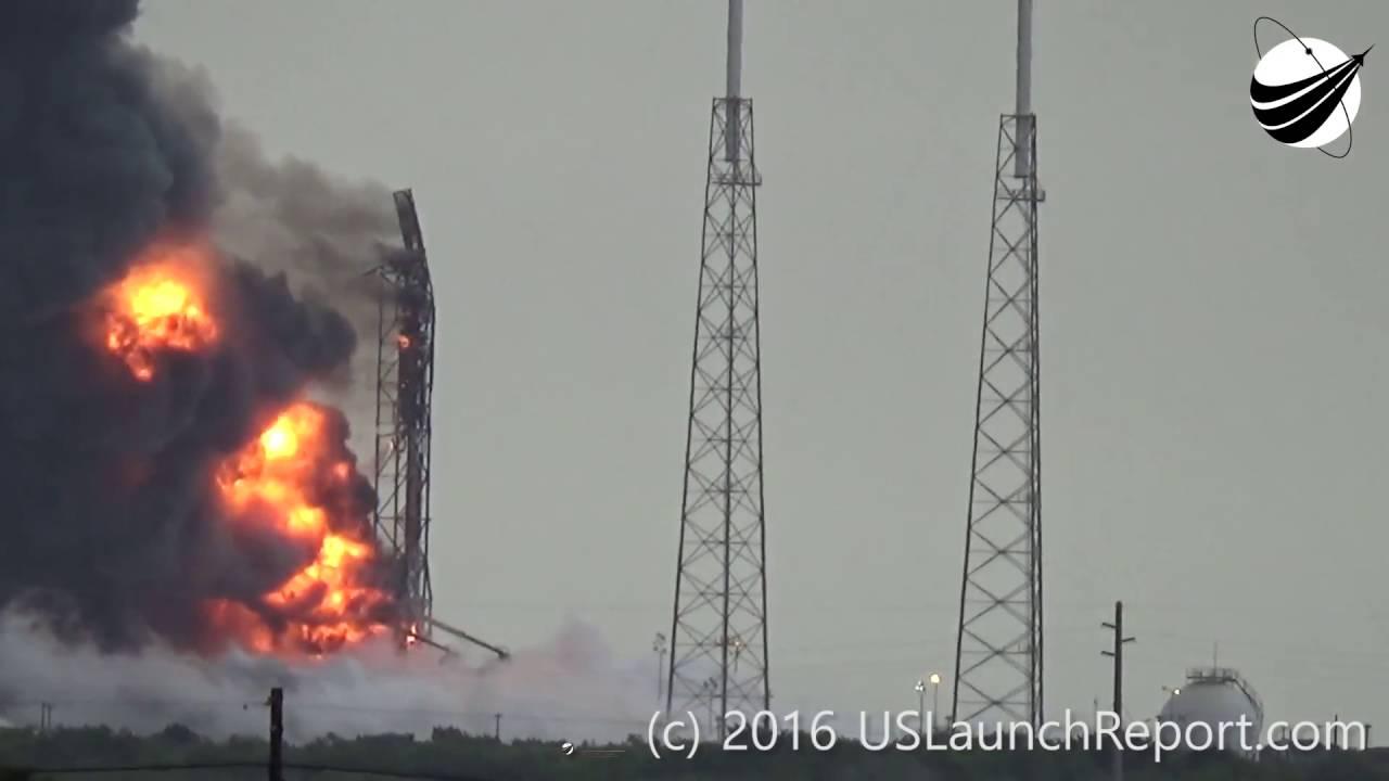 Cohete de SpaceX explota en Cabo Cañaveral antes de despegar (Sept. 1, 2016)