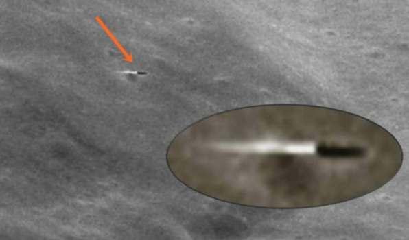 OVNI o Misil captado cerca de la luna
