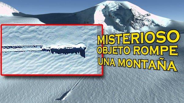 Extraño Objeto rompe Una montaña en la ANTÁRTIDA y nadie sabe que es