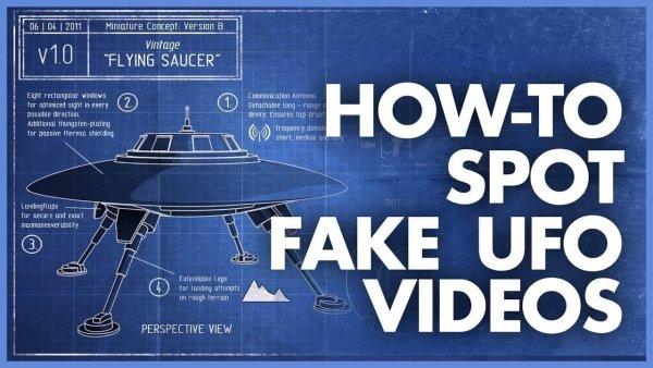 Cómo detectar videos falsos de avistamientos de OVNIS