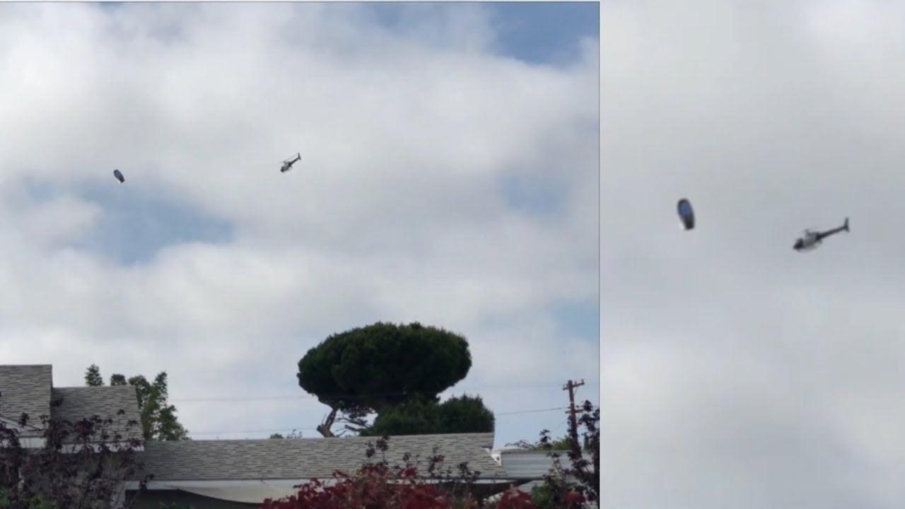 INCREÍBLE VÍDEO de un OVNI Perseguido por un Helicóptero de la Policía de los Ángeles