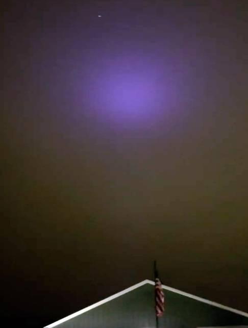 Extraña luz púrpura se cierne sobre la ciudad en Utah, 15 de enero de 2019