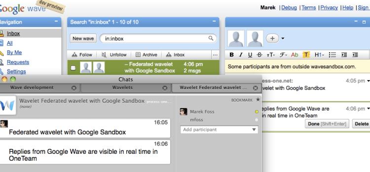 WaveOne, um servidor e cliente wave para ejabberd