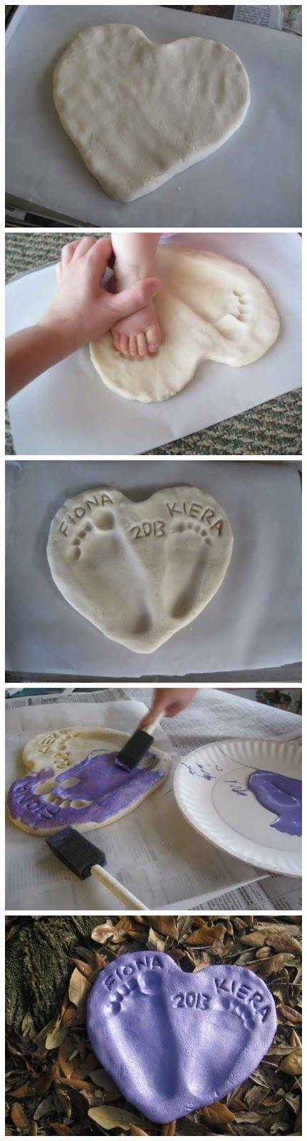 Molde das mãos e pés do bebê
