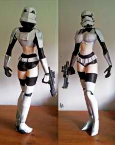 Trooper Girl papercraft