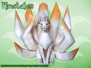 ninetails papercraft