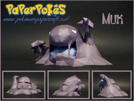 pokemon+muk+papercraft