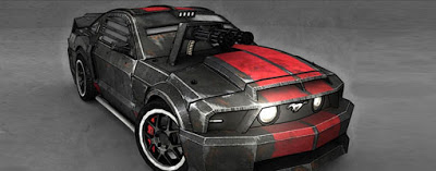 Death Race Papercraft - Ford Mustang GT