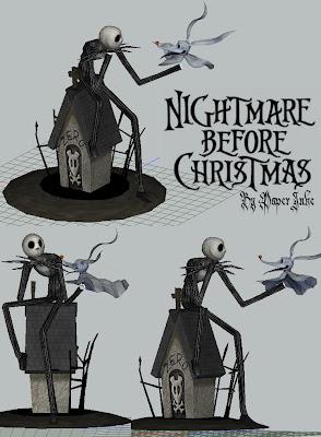 Nightmare Before Christmas Diorama Papercraft