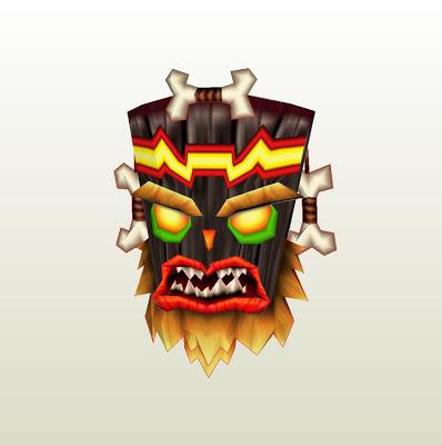 crash bandicoot - uka uka papercraft