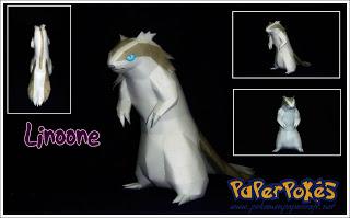 Pokemon Linoone Papercraft
